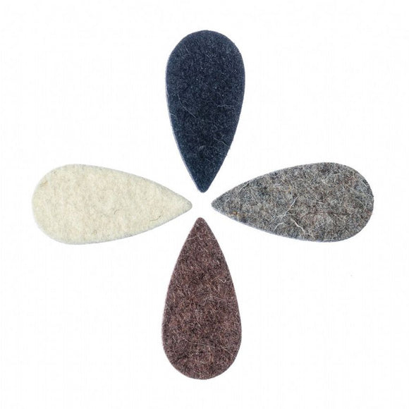 FeltTones by Timbertones Teardrop Felt Picks set of 4