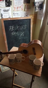 "Uke Mugs ""C Chord"" and ""G Chord"" designs SET OF TWO SPECIAL"