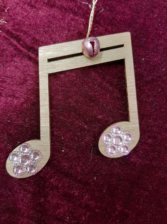 New!! Xmas tree ornaments  Double Quaver, Gold