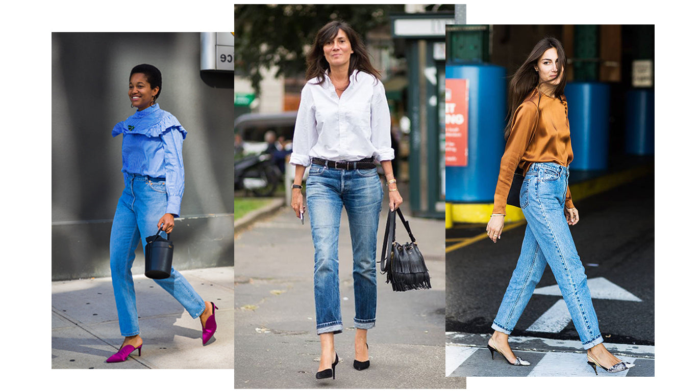 Street style blouse with jeans