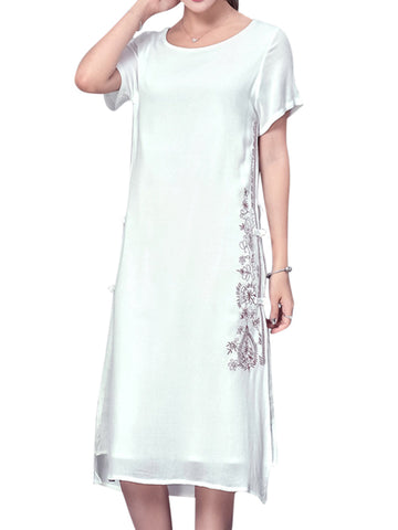 Madame Noy Robe Asiatique nouvelle collection Femme Modern Style Design Midi Dress White / XS Madame Noy | Mode, Lifestyle & Déco | Thaï | Lao | Khmer | Viet