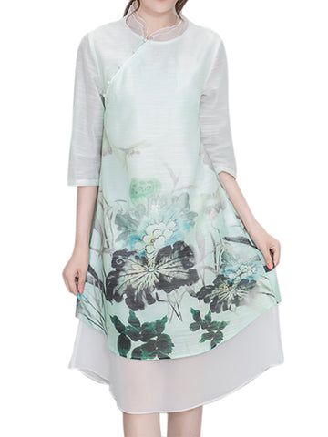Madame Noy Robe Asiatique nouvelle collection Femme Modern Style Flower Printed  Madame Noy | Mode, Lifestyle & Déco | Thaï | Lao | Khmer | Viet