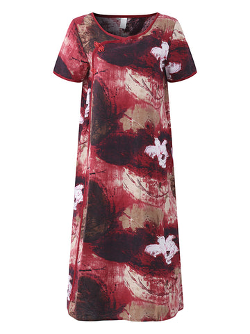 Madame Noy Robe Asiatique nouvelle collection Femme Modern Style Frog Button Side Slit Red / XS Madame Noy | Mode, Lifestyle & Déco | Thaï | Lao | Khmer | Viet