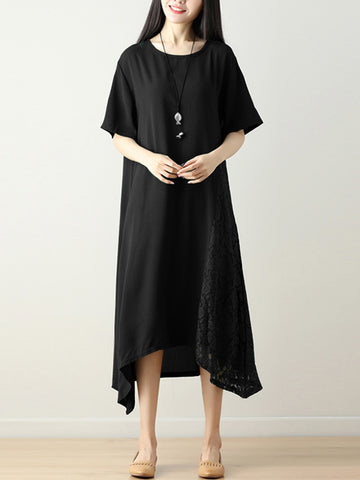 Madame Noy Robe Asiatique nouvelle collection Femme Modern Style Embroidery Solid Loose Hem Dress Black / 8 Madame Noy | Mode, Lifestyle & Déco | Thaï | Lao | Khmer | Viet
