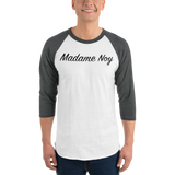 Madame Noy Madame Noy Unisexe 3/4 sleeve raglan shirt White/Heather Charcoal / 2XL Madame Noy | Mode, Lifestyle & Déco | Thaï | Lao | Khmer | Viet