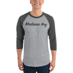 Madame Noy Madame Noy Unisexe 3/4 sleeve raglan shirt Heather Grey/Heather Charcoal / 2XL Madame Noy | Mode, Lifestyle & Déco | Thaï | Lao | Khmer | Viet