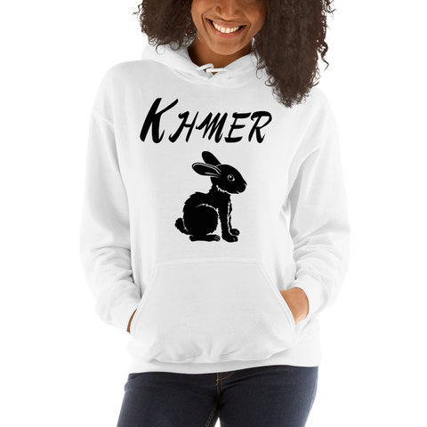 Madame Noy MADAMENOY Khmer ZODIAC SIGN Rabbit Unisex Hooded Sweatshirt White / 5XL Madame Noy | Mode, Lifestyle & Déco | Thaï | Lao | Khmer | Viet