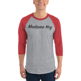 Madame Noy Madame Noy Unisexe 3/4 sleeve raglan shirt Heather Grey/Heather Red / 2XL Madame Noy | Mode, Lifestyle & Déco | Thaï | Lao | Khmer | Viet