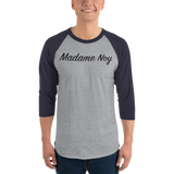 Madame Noy Madame Noy Unisexe 3/4 sleeve raglan shirt Heather Grey/Navy / 2XL Madame Noy | Mode, Lifestyle & Déco | Thaï | Lao | Khmer | Viet