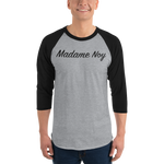 Madame Noy Madame Noy Unisexe 3/4 sleeve raglan shirt Heather Grey/Black / 2XL Madame Noy | Mode, Lifestyle & Déco | Thaï | Lao | Khmer | Viet