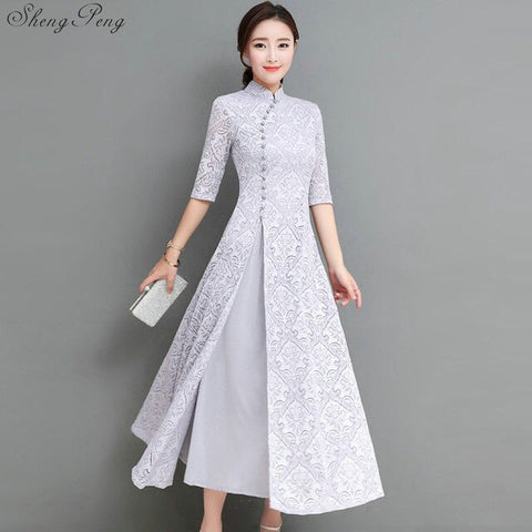 Madame Noy Collection Qipao Cheongsam printemps new generation casual moderne white gris 2 / XXL Madame Noy | Mode, Lifestyle & Déco | Thaï | Lao | Khmer | Viet