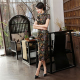 Madame Noy Traditionnel Robe Qipao Femme Cheongsam Ladies Style Qipao Silm Short Sleeve Novelty Long Dress Black / XXXL Madame Noy | Mode, Lifestyle & Déco | Thaï | Lao | Khmer | Viet