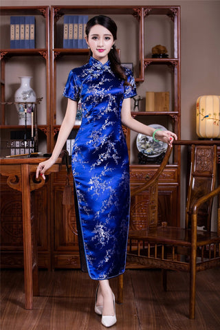 Madame Noy Robe Asiatique new collection Qipao Cheongsam Femme Modern Style Long Floral  Madame Noy | Mode, Lifestyle & Déco | Thaï | Lao | Khmer | Viet