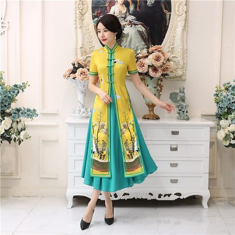 Madame Noy Robe Asiatique new collection Qipao Cheongsam Femme Modern Style Oriental dress modern  Madame Noy | Mode, Lifestyle & Déco | Thaï | Lao | Khmer | Viet