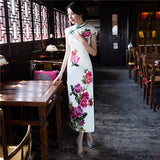 Madame Noy Robe Asiatique new collection Qipao Cheongsam Femme Modern Style Silk Floral Long Dress  Madame Noy | Mode, Lifestyle & Déco | Thaï | Lao | Khmer | Viet