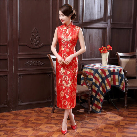 Madame Noy Robe Asiatique new collection Qipao Cheongsam Femme Modern Style collar sleeveless satin  Madame Noy | Mode, Lifestyle & Déco | Thaï | Lao | Khmer | Viet