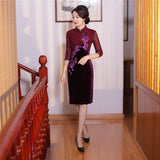 Madame Noy Robe Asiatique new collection Qipao Cheongsam Femme Modern Style Velvet  Madame Noy | Mode, Lifestyle & Déco | Thaï | Lao | Khmer | Viet