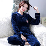 Madame Noy Winter collection tendance femme asiatique pyjama cole en V gris blue pajama sets / XXL Madame Noy | Mode, Lifestyle & Déco | Thaï | Lao | Khmer | Viet