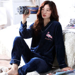 Madame Noy Winter collection tendance femme asiatique pyjama cole en V gris blue pajama sets 1 / XXL Madame Noy | Mode, Lifestyle & Déco | Thaï | Lao | Khmer | Viet