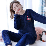Madame Noy Winter collection tendance femme asiatique pyjama cole en V gris blue pajama sets 3 / XXL Madame Noy | Mode, Lifestyle & Déco | Thaï | Lao | Khmer | Viet