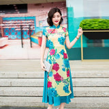 Madame Noy Robe Ao Dai New collection Vietnam Femme style print floral Multi / XXL Madame Noy | Mode, Lifestyle & Déco | Thaï | Lao | Khmer | Viet
