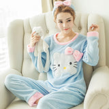 Madame Noy Winter collection tendance femme asiatique pyjama  Cute Cartoon Mujer rong hujiemao blue / XXL Madame Noy | Mode, Lifestyle & Déco | Thaï | Lao | Khmer | Viet