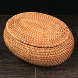 Madame Noy 100% handmade Vietnam Autumn Rattan jewelry storage box organizer crafts snacks ornament dried fruit  food Sundry neating basket Default Title Madame Noy | Mode, Lifestyle & Déco | Thaï | Lao | Khmer | Viet