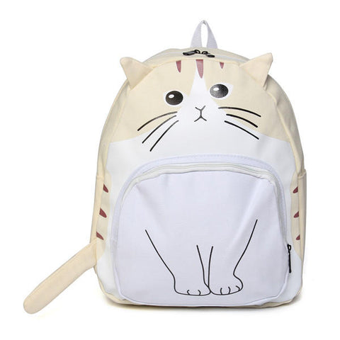 Madame Noy Women Canvas Cat Face Backpack Girls Cute Rucksack School Students Book Bags  Madame Noy | Mode, Lifestyle & Déco | Thaï | Lao | Khmer | Viet