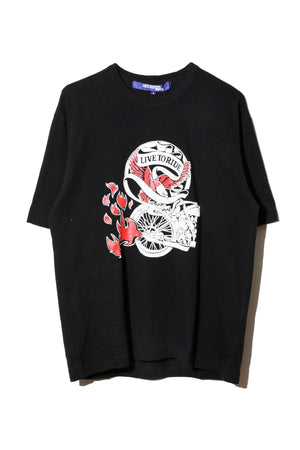 JUNYA WATANABE 'LOVE TO RIDE' PRINT T-SHIRT