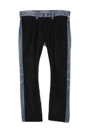 JUNYA WATANABE AD2013 LEATHER POCKET DENIM PANTS