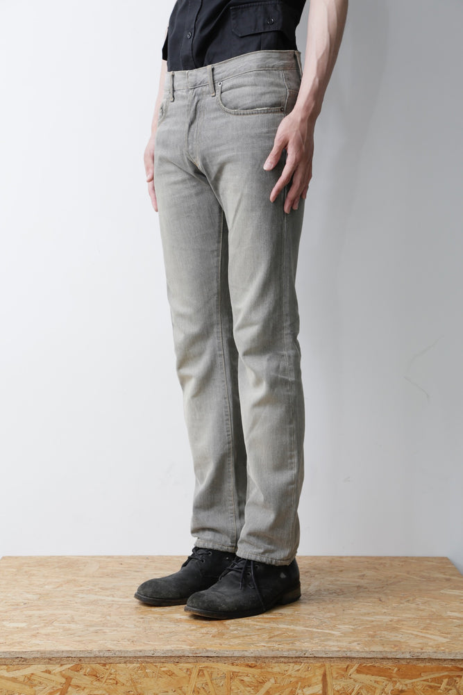 PAINT STRAIGHT DENIM PANTS