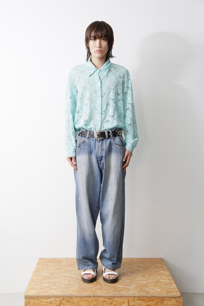 HELMUT LANG ARCHIVE BONDAGE DENIM PANTS