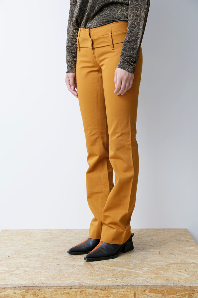 HELMUT LANG ARCHIVES FRONT BUTTON SLACKS