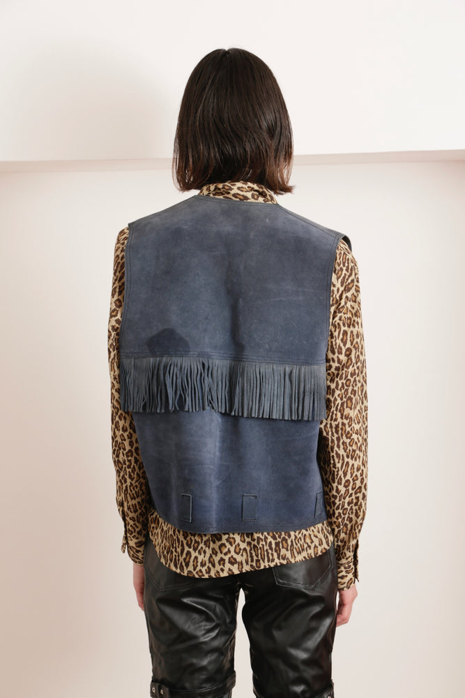 FRINGE LEATHER VEST