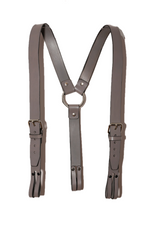 LEATHER SUSPENDERS GREY
