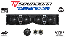 "Load image into Gallery viewer, TJ-YJ American SoundBar ""All American"" Fully Loaded Package- American Bass 8"" Godfather Speakers and American Bass Competition Tweeters- Jeep Wrangler"