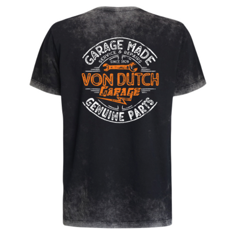 Camiseta Von Dutch Genuine Parts Signature Marmorizado