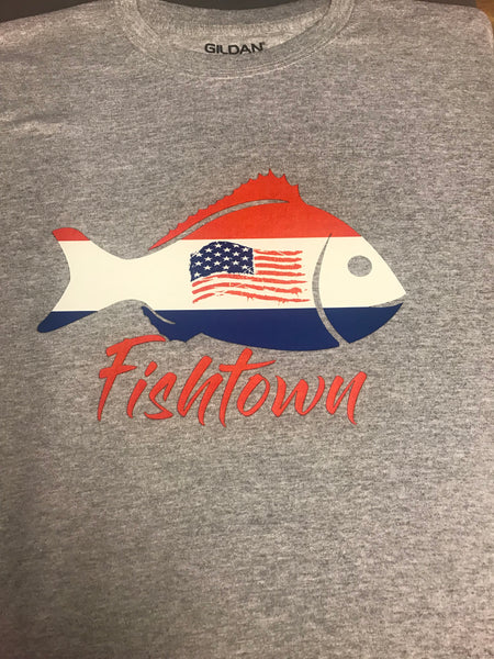 Fishtown Fish American Flag Shirt
