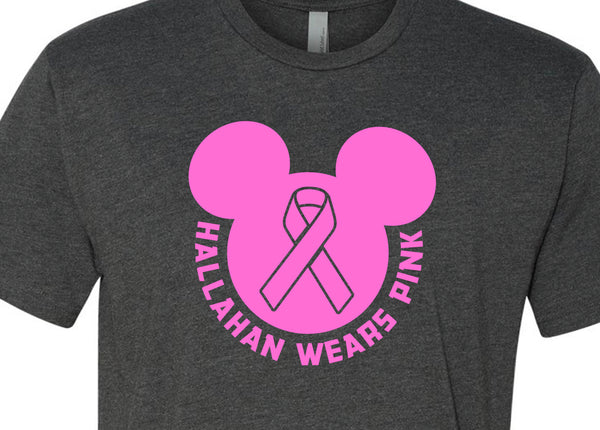Hallahan breast cancer shirt