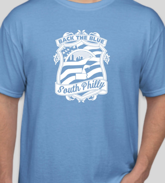 South philly back the blue t shirt
