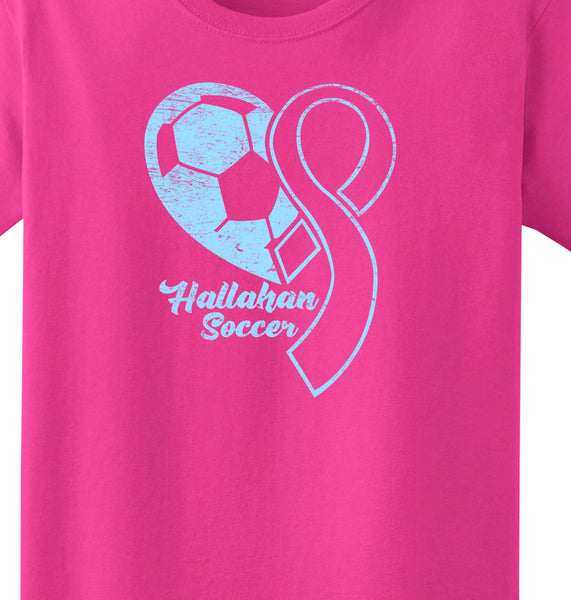 Hallahan Soccer Breast cancer shirt