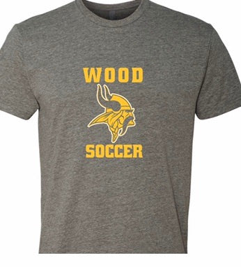 Wood soccer t shirt