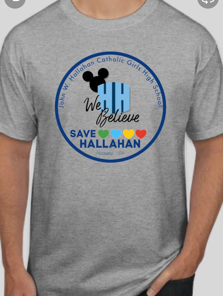 Save Hallahan Shirt with school song