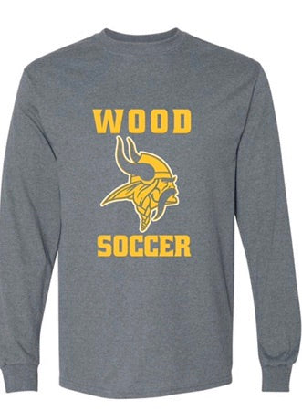 Wood soccer long sleeve shirt