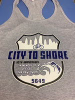 Officer John Pawlowski city to shore bike woman's racer back tank