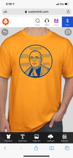 Saint Helena Bishop tshirt