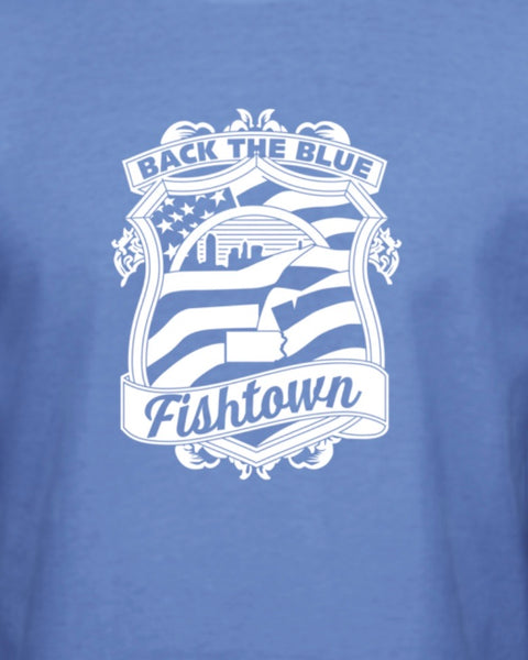 Fishtown Back the blue shirt