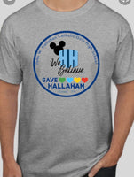 Save Hallahan t shirt no school song on back