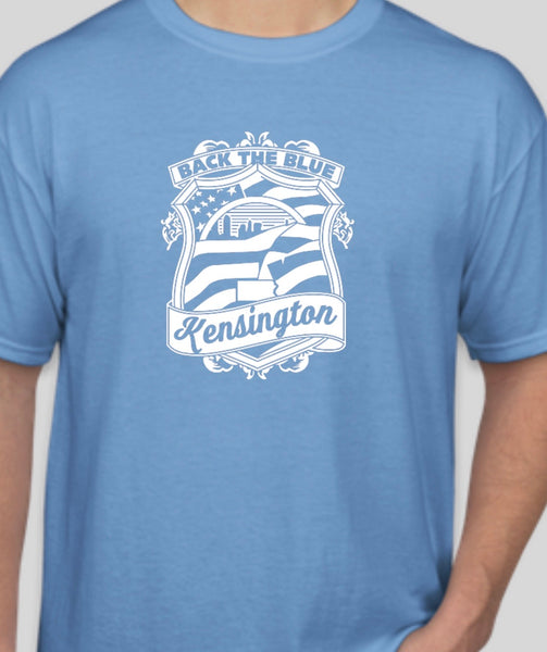 Kensington back the blue shirt