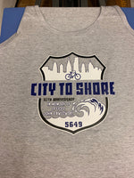 Officer John Pawlowski city to shore bike ride men's tank